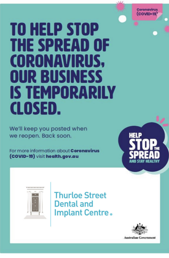 Corona virus business closed stay at home poster